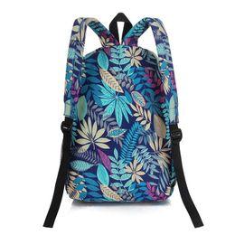 2016 women backpacks printing leaves backpack mochila rucksack fashion canvas bags retro casual school bag travel bags