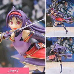 Аниме искусство Онлайн-Аниме Sword Art Online Конно Юки ПВХ фигурку Коллекционная модель игрушка кукла 18см