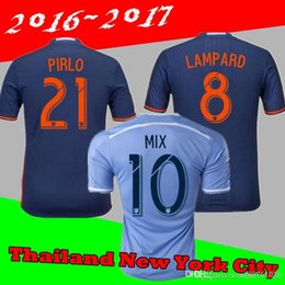 Wholesale 2016 New York City Jerseys Shirt DAVID VILLA lampe ARD PIRLO IRAOLA POKU USA Occupation League rugby Jersey rugby Away Home