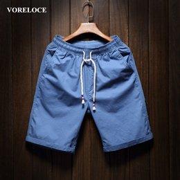 Wholesale Men s pure color beach shorts contracted summer leisure men s leisure furniture high quality cotton shorts color