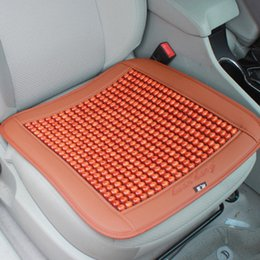 Wholesale New PC Natural Wooden Bead Seat Cushion Car Home Chair Cover Tan Beaded Cool Summer