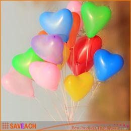 Globos del corazón en Línea-La fiesta de cumpleaños Baloon de los globos del corazón del látex de 1.8g / 1.5g que casa la venta caliente del globo de la forma del corazón de los globos del aire de las decoraciones libera el envío
