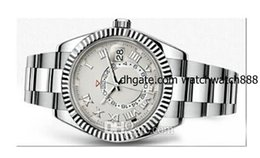 New Brand Men watch sky dweller luxury stainless steel original clasp AAA quality inner ring rotation automatic movement