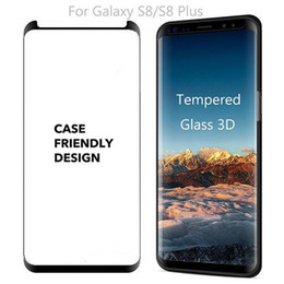 Case Friendly Film For Galaxy S8 Plus S7 edge note8 S9 PLUS 3D Full Cover Curved Side Tempered Glass Screen Protector
