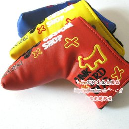 Wholesale custom shop Golf putter headcover golf clubs headcover top quality PU Golf headcover with colors putter headcover