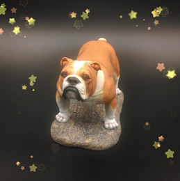 Wholesale Factory price big stuffed dog Genuine Resin Crafts For Export Trading or retailer British Bulldog Model