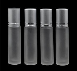 Factory Price Frosted 10ml Essential Oils Roller Bottles White Glass Roll On Bottles for Perfume,Lip Balm,Essential Oils