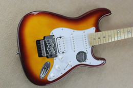 Wholesale St custom HSS plus top electric guitar star inlay fingerboard Antique Sunburst F ST guitar EMS