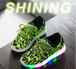 Lumières bottes à vendre-Nouveau bébé garçons filles LED Light Chaussures Bottes de sport Kids Kids Sneakers Enfants 350 Chaussures Casual