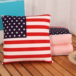 HOT Multifunctional pillow Office sofa cushion quilt air conditioning Pillow blanket plush cushion air conditioning blanket