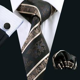 Fashion Silk Adult Men's Necktie for Party Floral Floral & Stripes Ties for Men Suit Black Men Tie High quality Neck Tie N-0798
