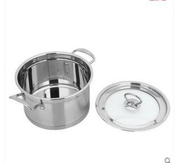 Wholesale Hot Sale Stainless Steel The Pot Thickening Household Hot Pot Skillet Stew Electromagnetic Furnace Gas Currency