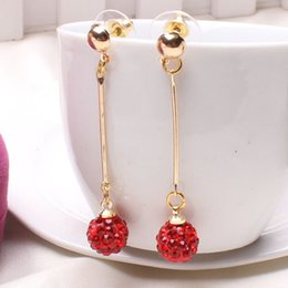 South Korean jewelry OL temperament long drill ball earrings star in same multicolor full drill ball stud earrings adorn article