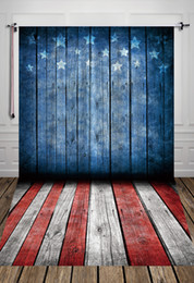Wholesale 5x7ft x2 m USA Flag printed wood floor photography backdrops Thin vinyl photography backgrounds for studio newborn for kids D