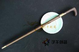 Wholesale Wonderful Brand New Handmade Walking Stick Sword Sharp Damascus Steel Blade Top Brown Rosewood Sheath Body and Hilt