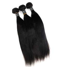 Virgin Brazilian Human hair weave Straight hair Bundles wefts 8~34inch Unporcessed Peruvian Malaysian Indian Dyeable hair extensions
