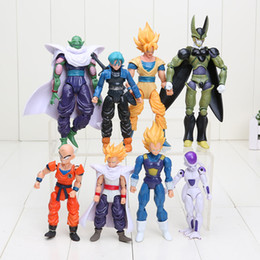 Wholesale 8pcs set Dragon ball Z Freeza Piccolo can face transplant and palm DBZ Goku Piccolo Model Toys Assembly Toys Compatible Action Figure Toy
