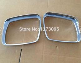 Wholesale ABS Chrome Sun Rain Visor Guard Shield Deflector Trim Side Door Mirror Frame Cover Decoration for Dodge Journey