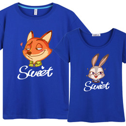 Zootopia Men Women Lovers Short sleeve T-Shirt Mixed sales Collective Clothing teens Tide men casual clothes Summer clothes