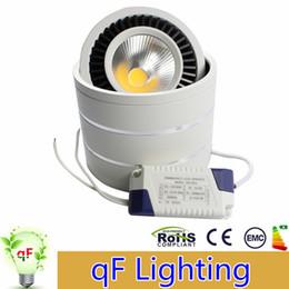 Купить Онлайн Поверхность панели-3W 5W 7W 15W Dimmable Накладные COB Downlight водить 360 градусов Вращающийся Светодиодная панель Потолочный светильник с водителем AC85-265V
