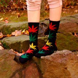 Wholesale boy socks cartoons Kids Girls Cartoon Pattern Soft Cotton Socks High Hosiery Style Year maple leaves socks