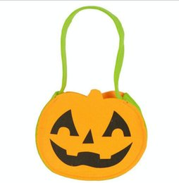 Wholesale children s Halloween pumpkins bag new design Bag kids orange green andy Basket Children Masquerade Party Performance Props Party Supplies