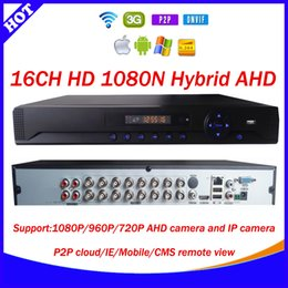 Wholesale New CH HD N AHD recorder onvif xmeye p2p cloud Channel Hybrid AHD HVR DVR NVR in support p camera IE CMS Mobile app view