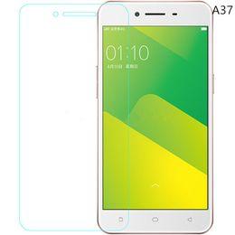 Promotion oppo chinois Oppo A37 HD Clear Protecteur d'écran en verre trempé 2.5D Round Edge Protecteur d'écran pour les marques chinoises pour Iphone pour Samsung galaxie - YH0149