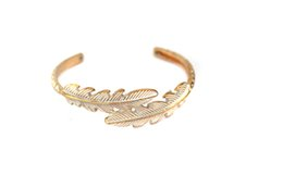 Hot sale fashion jewelry metal leaf with high quality plating and coating,open cuff for women's and men's,boy's and girl's party gift!