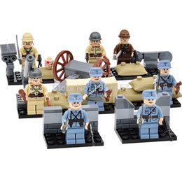 Wholesale DLP9021 Military World War II Minifigures Army China Japan Soldier Hitlerry Building Blocks Set Models Toys