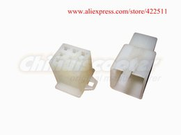Wholesale Holes White ABS Scooter Connectors amp Terminal Plug Ins Power Wire Plug for Scooter Spare Parts