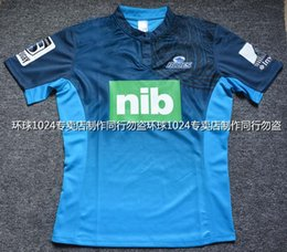 Wholesale Rugby League New Zealand Super Rugby Union blues High temperature heat transfer printing jersey Rugby Shirts