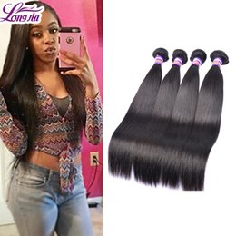 Wholesale Discount Indian virgin straight hair fast shipping bundle deals unprocessed human hair weaves g by DHL