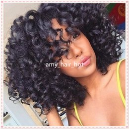 Wholesale Stock Affordable Full Lace WigsHuman Hair Lace Front WigsBlack Women Inch Natural Black U Part Curly Bob Human Hair Wig