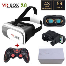 Wholesale Google Cardboard VR BOX Version D Glasses Virtual Reality Headset Glasses Bluetooth Wireless Mouse Remote Control Gamepad
