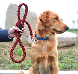 High Quality Nylon Materia Dog Training Leash Pet Lead Rope Solid Training Leash Suit For Middle Large Dogs Pet Supplier M Size 5PCS LOT