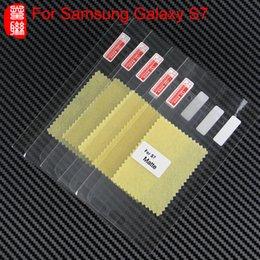 Pantallas digitales en venta-Protector de pantalla de alta calidad de PET mate para la galaxia S7 huella digital anti antideslumbrante del protector de la pantalla de cine