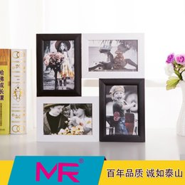 Wholesale 6 inch photo frame EU simple style design wooden picture frame printed or aperture picture frame can be wall mounted
