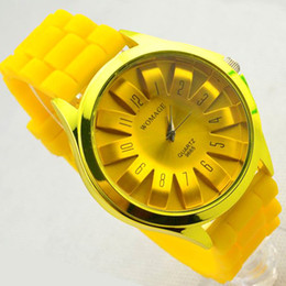 Japan and South Korea style multicolor sun flower silicone band fashionable watch for lady students manufacturers wholesale