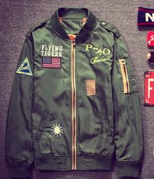 Flight Pilot Jacket Coat army green Bomber Ma1 Men Bomber Jackets Nasa Embroidery Baseball Military tiger hip hop jackets male