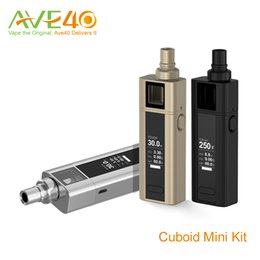 Wholesale Joyetech Cuboid Mini Box Mod w TC Kit with Notch Coil mAh with ml Cuboid Mini Tank VS Evic Mini with Tron Starter kit Original