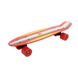 Wholesale Official Ferrari Retro Cruiser Fish Style quot inch Penny Skateboard Skater Skating Durable Complete Deck Board Outdoor Sports FBP3