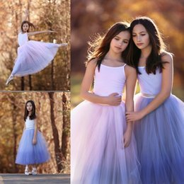 Wholesale Tutu Ballet Skirts For Girls Puffy Short Dresses Lovely Ruched Ankle Length Birthday Party Dresses Custom Made Organza Child Girls Skirts