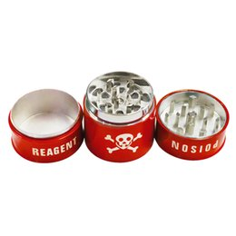 Three Layers Grinders, Barrel Type, Zinc Alloy Grinder with Pollen Catcher for Spice, Random Colors, Free Shipping