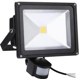 Wholesale 10W W W W LED Floodlights PIR Motion Sensor IP65 Waterproof Security Outdoor Lighting Garden Door Spotlights Flood Lights
