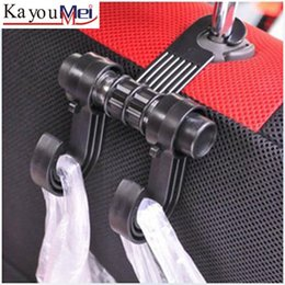 Wholesale Double Automobile Hanger Daily Grocery Shopping Hook Holder Car Back Seat Fastener Auto Supplies Interior Accessories Hook Clip W061