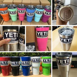 Wholesale 13 COLOR oz oz oz YETI Rambler Tumbler Cups Red Black White Purple Pink Blue Light Green Double Wall Bilayer Insulation Mug PPA281