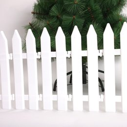 Wholesale Hot Sale Christmas Tree Fence Decoration White Plastic Fence Christmas Railings Xmas Tree Garden Yard Ornament SW0430