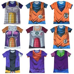 Wholesale Dragon Ball Z Super Saiyan compression t shirts tees Vegeta bick cloth the wu is empty kaka ronaldo anime T shirt tops t shirt