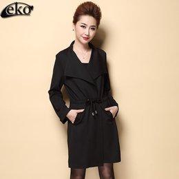 Wholesale New Autumn Women Coat Vintage Windbreaker Jacket Women Belt Chinese Style Ladies Ladies Coats Fashion Slim Basic Coat Plus Size